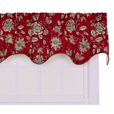 Jeanette Cotton Lined Duchess Filler Valance Window Curtain