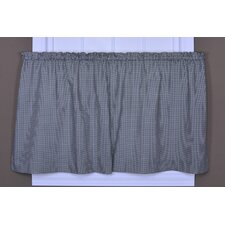 Logan Cotton Rod Pocket Gingham Check Print Tailored Tier Curtain