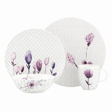 Watercolor Amethyst 4 Piece Place Setting
