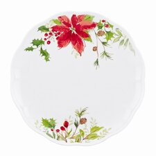 Winter Meadow Poinsettia Dinner Plate