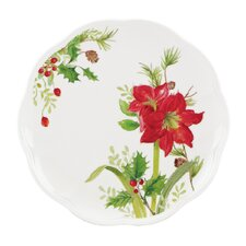 Winter Meadow Amaryllis Accent Plate