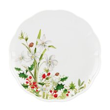 Winter Meadow Paper White Dinner Plate