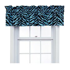 Zebra Cotton Blend Rod Pocket Ruffled Curtain Valance