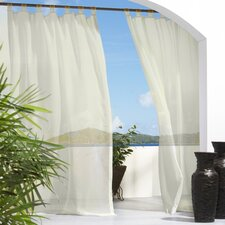 Outdoor Décor Escape Tab Top Sheer Curtain Single Panel with Velcro