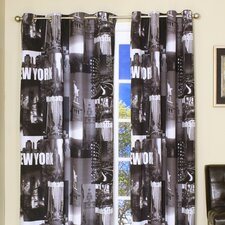 Landmark A Collection of Photo Image Landmarks New York Grommet Curtain Single Panel