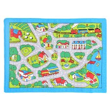 Paradise Design Street Map Kids Rug