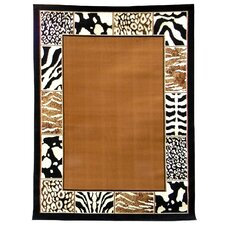 African Adventure Border Skin Novelty Rug