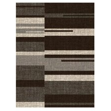 Lexington Chocolate Line and Blocks Rug