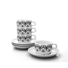 Ribbon Cup and Saucer Set