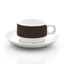 Brown Links Cup and Saucer Set