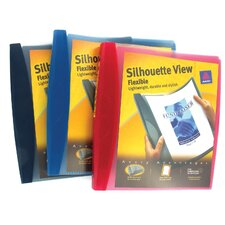 "1"" Assorted Colors Silhouette View Flexible Binder"