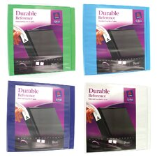 "3"" Assorted Colors Durable Reference View Binder"