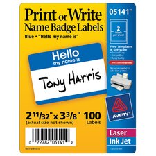 100 Count Name Badge Label