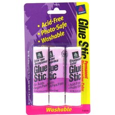 3 Count .26 Oz Disappearing Glue Stic