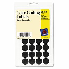 Removable Self-Adhesive Color-Coding Labels, 1008/Pack