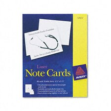 Printer Compatible Cards, 2/Sheet, 60/Box