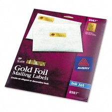 Foil Mailing Labels, 3/4 X 2-1/4, 300/Pack