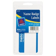 "4"" x 6"" Name Badge Label 25 Count"