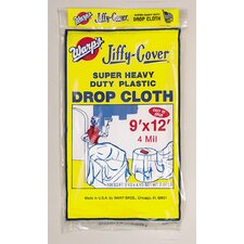 9' X 12' Jiffy Cover® Super Heavy Duty Drop Cloth 4JC-912