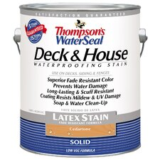 Thompson's® WaterSeal® Deck and House Cedartone Solid Latex Stain