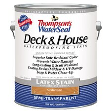 Thompson's® WaterSeal® Deck and House Cedartone Semi-Transparent Latex Stain