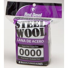 8 Pack #0000 Steel Wool 0320