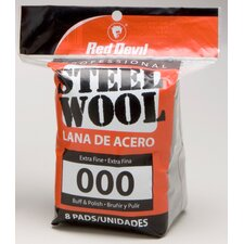 8 Pack #000 Steel Wool 0321