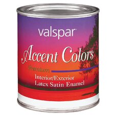 1 Quart Red Base Accent Color Interior/Exterior Latex Satin Enamel