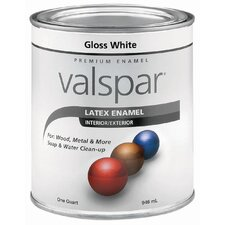 1 Quart White Gloss Latex Enamel 410-65000 QT