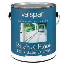 1 Gallon White Porch & Floor Latex Satin Enamel 27-1500 GL