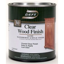 1 Quart Gloss Waterborne Clear Wood