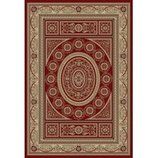 Gem Aubusson Red Rug