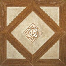 "12"" x 12"" Vinyl Tiles in Madison Woodtone/Stone"