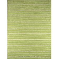 Kidz Image Mellow Green Stripes Kids Rug