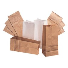 12 Paper Bag in White with 500 Per Bundle