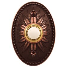 Venetian Bronze Lighted Push Button Door Chime