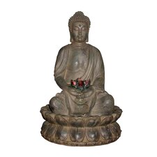 Tao Buddha Cast Resin Fountain