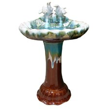 "14"" Ceramic Bird Bath"