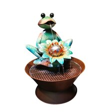 Metal Frog Fountain