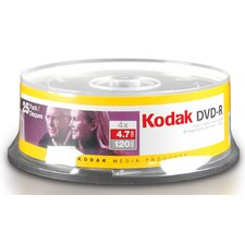 "5.75"" Kodak 4.7 GB Media (Pack of 25)"