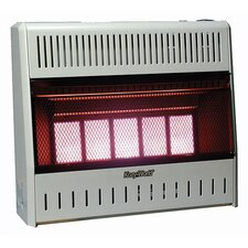 25,000 BTU Infrared Wall Propane Space Heater with Thermostat