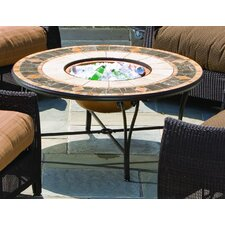 Compass Mosaic Fire Pit and Beverage Cooler Table