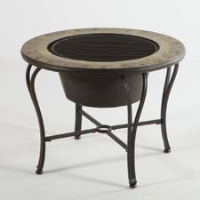 Notre Dame Mosaic Fire Pit and Beverage Cooler Table