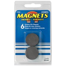 Ceramic Disc Magnets (Pack of 6)
