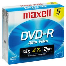 DVD-R 5 Pack Data and Video