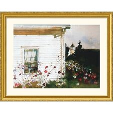 Around the Corner Gold Framed Print - Andrew Wyeth