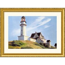 Lighthouse at Two Lights Gold Framed Print - Edward Hopper