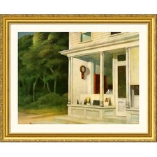 Seven A.M. Gold Framed Print - Edward Hopper