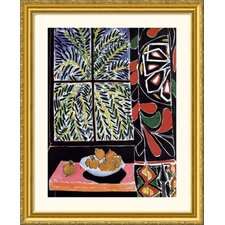 Interior with Egyptian Curtain Gold Framed Print - Henri Matisse