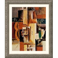 Violin and Guitar Silver Framed Print - Pablo Picasso